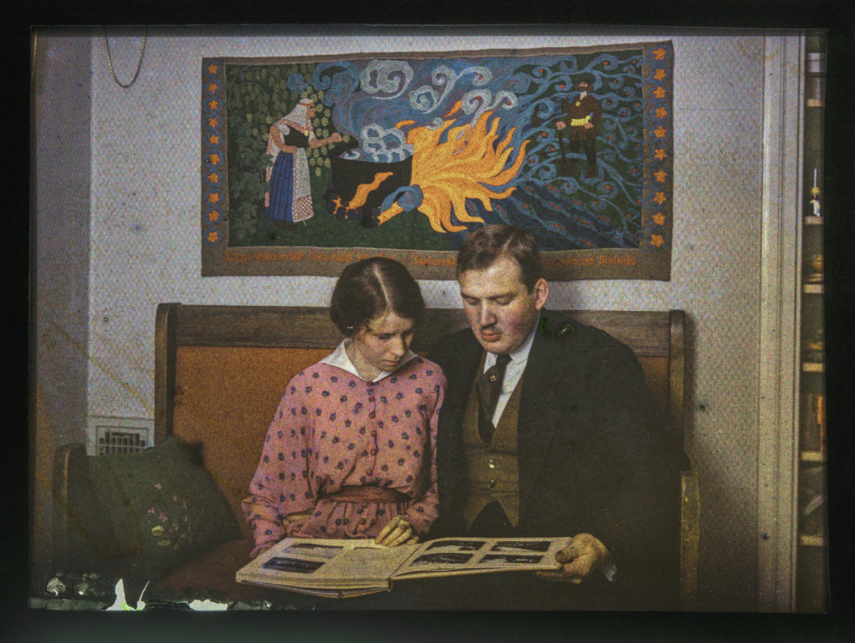 Reino Pietinen med hustrun Sivi. Foto: Reino Pietinen / Museiverkets Bildsamlingar